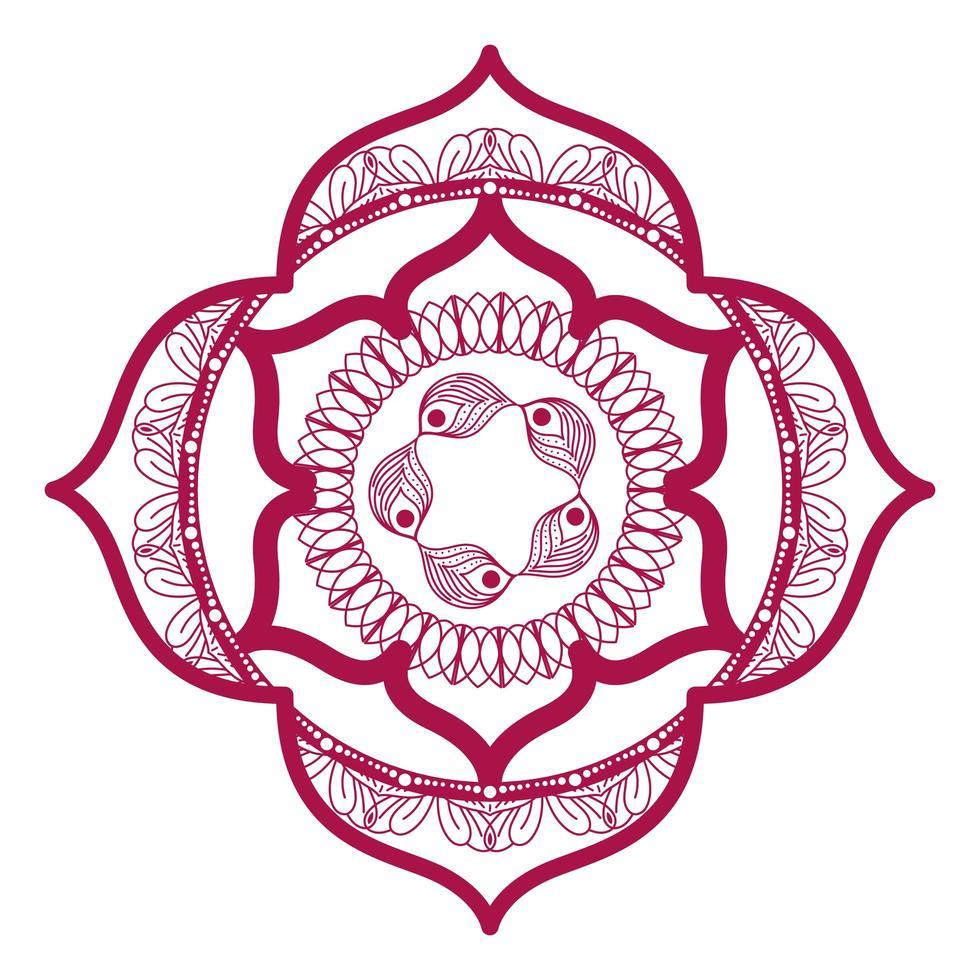 Mandala im Rahmen rosa Design vektor