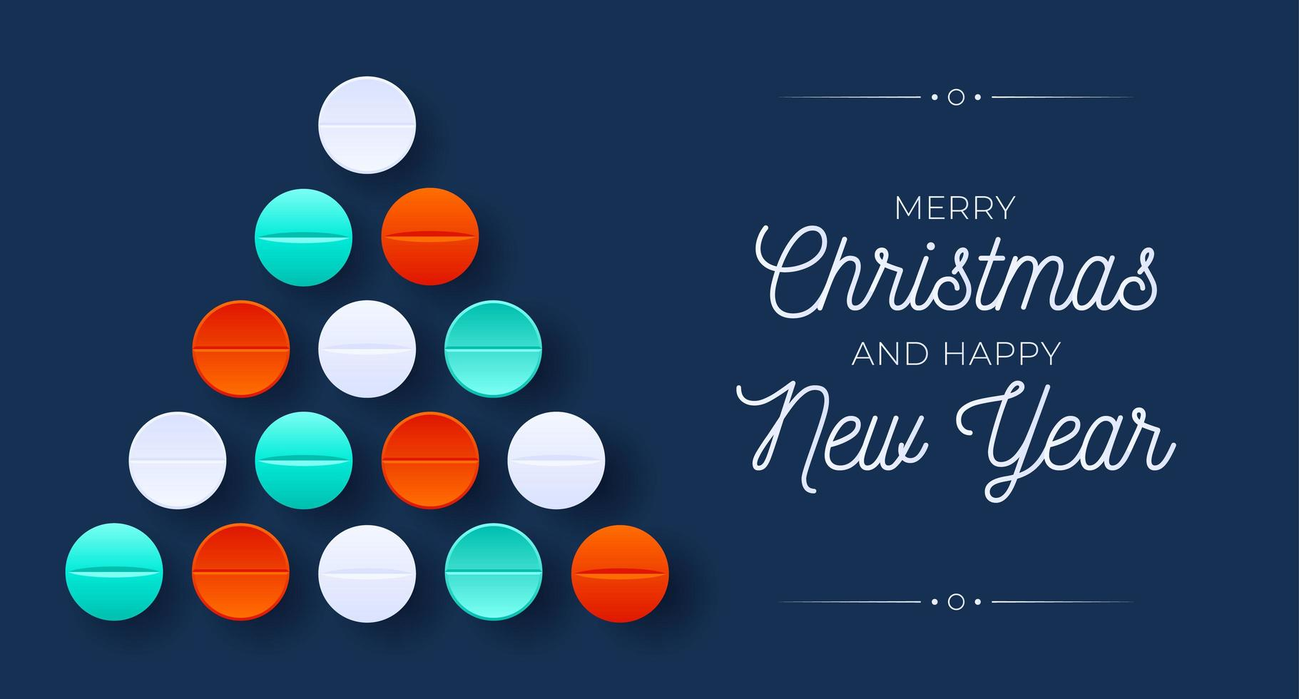kreative medizinische Weihnachtsbaumform mit Pillenverzierungen vektor