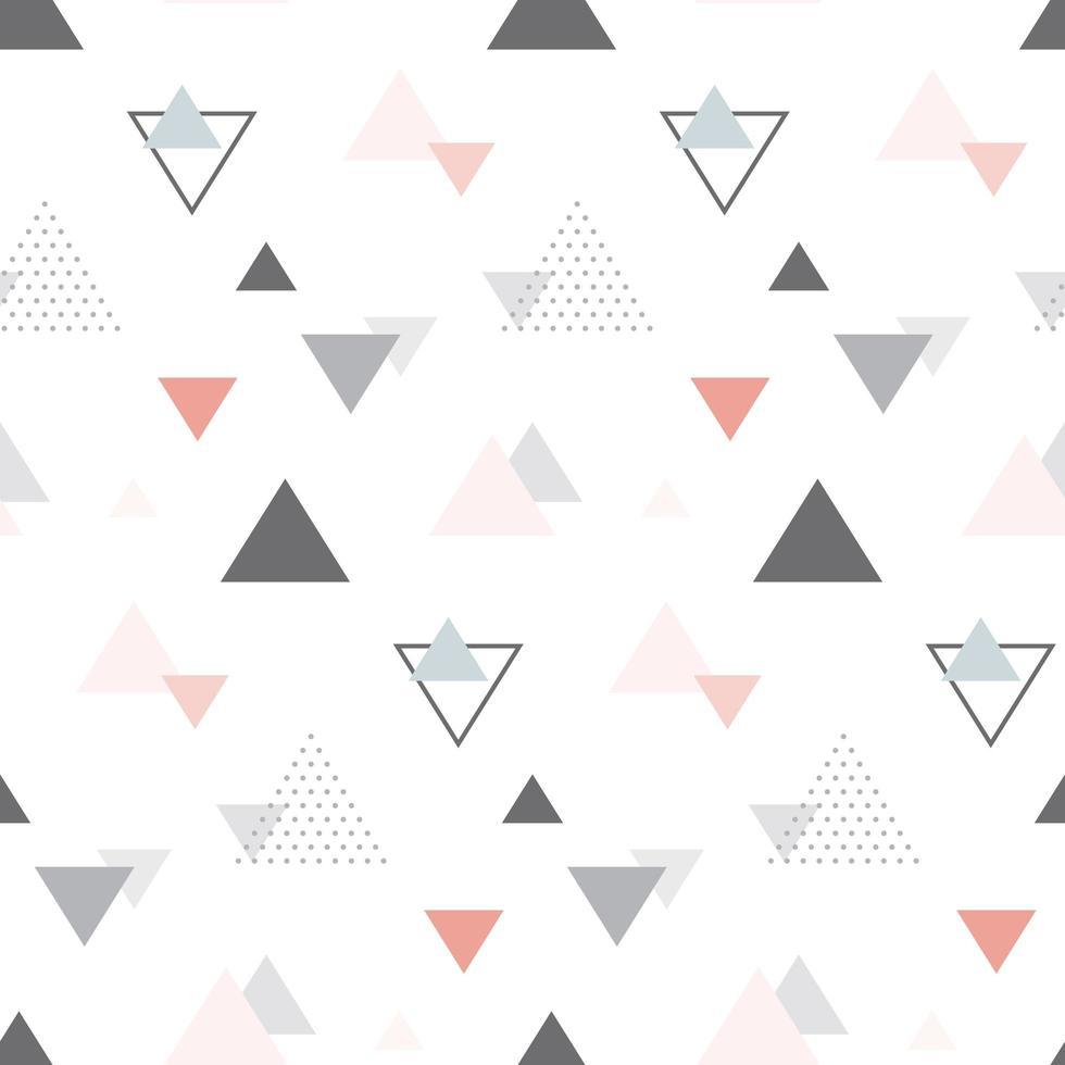 abstraktes geometrisches skandinavisches nahtloses Muster. vektor