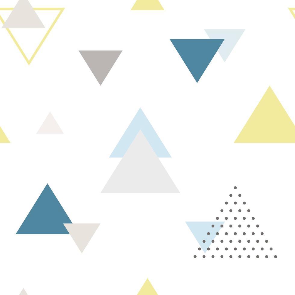 nahtloses Muster des modernen abstrakten Dreiecks im skandinavischen Stil. vektor