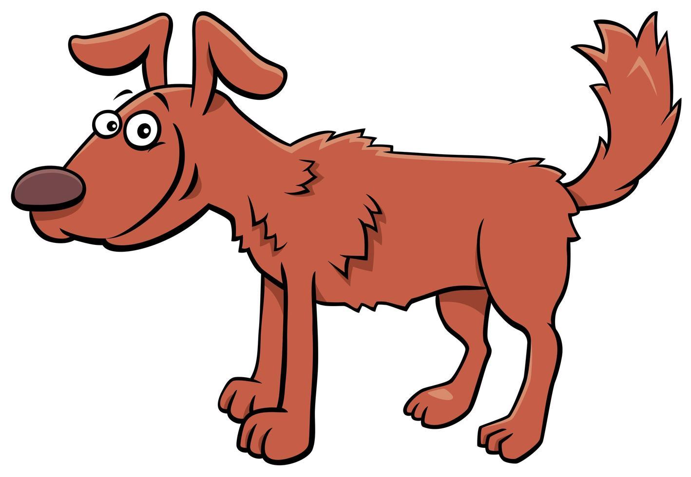 tecknad hund komiska djur karaktär vektor
