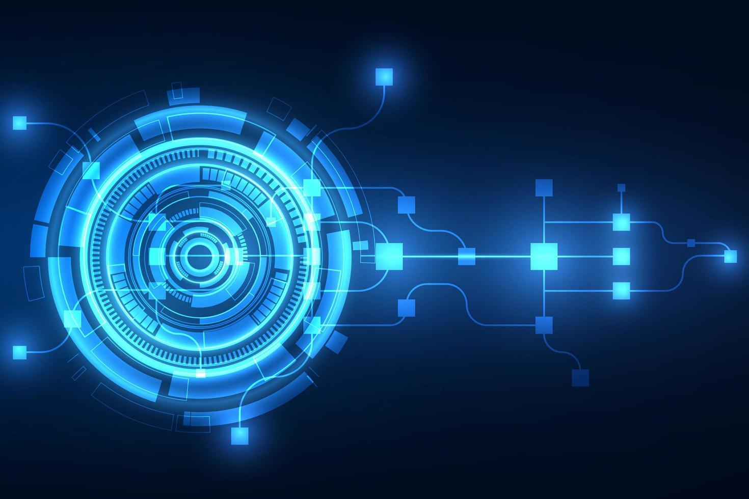 abstrakter futuristischer Technologiehintergrund vektor