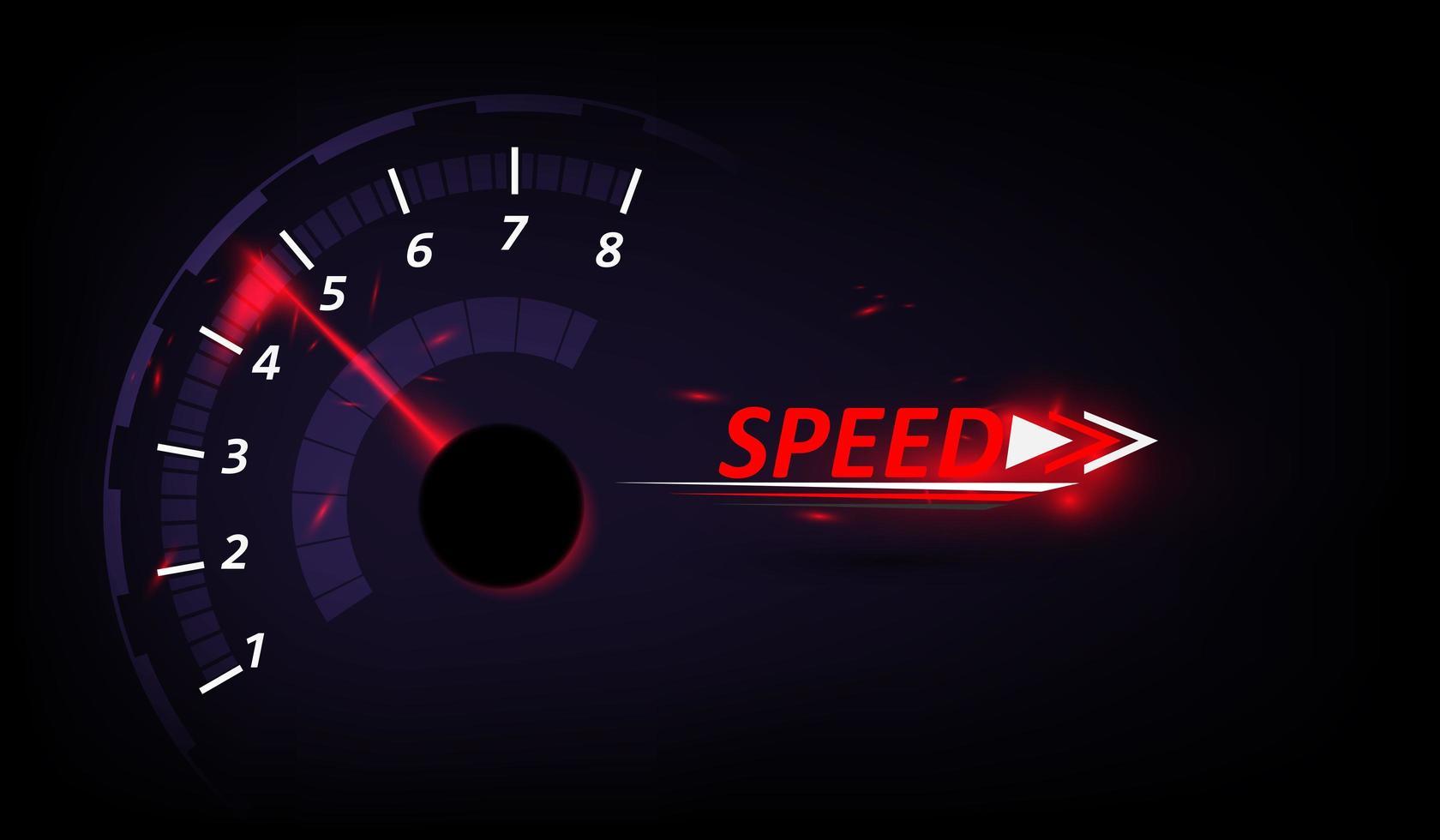 Geschwindigkeitsbewegungshintergrund mit Tachometer vektor
