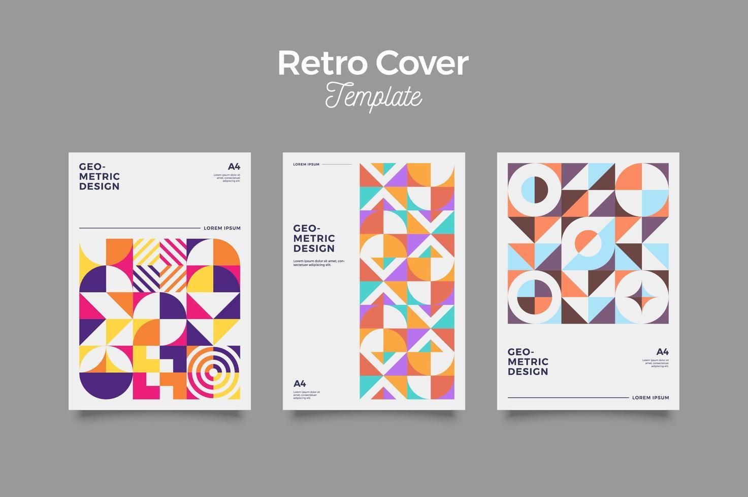 bauhaus retro cover design vektor