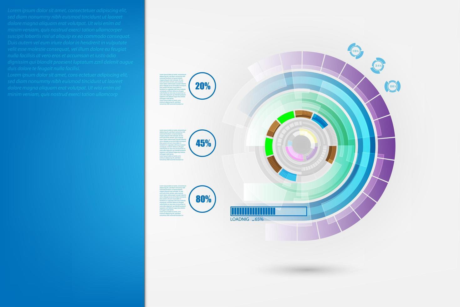 Hintergrund der abstrakten Datentechnologie vektor