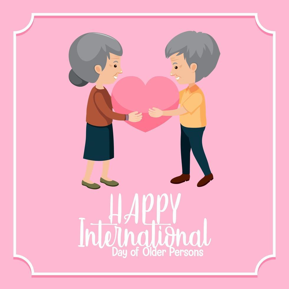 Internationaler Tag der älteren Menschen Banner vektor