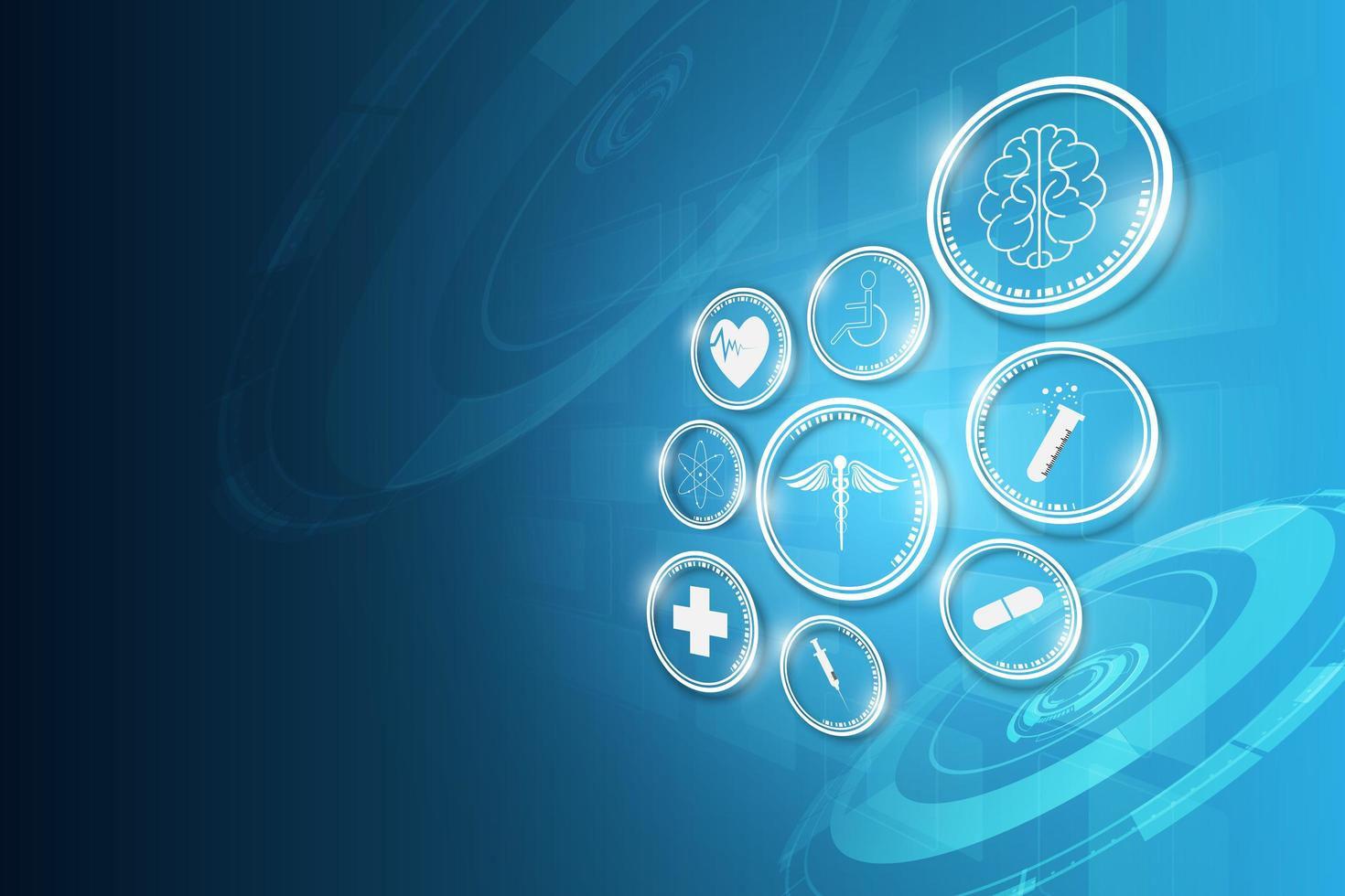 medicinsk teknik innovation koncept bakgrund vektor