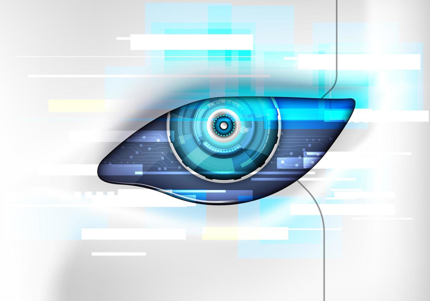 robotens öga. futuristiskt hudgränssnitt vektor