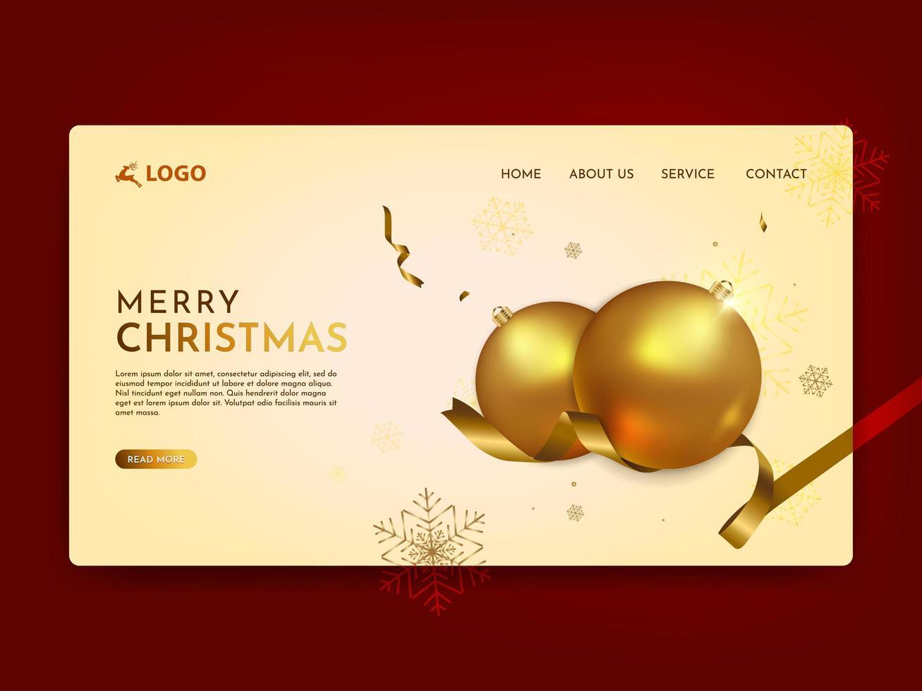 målsida för god jul vektor