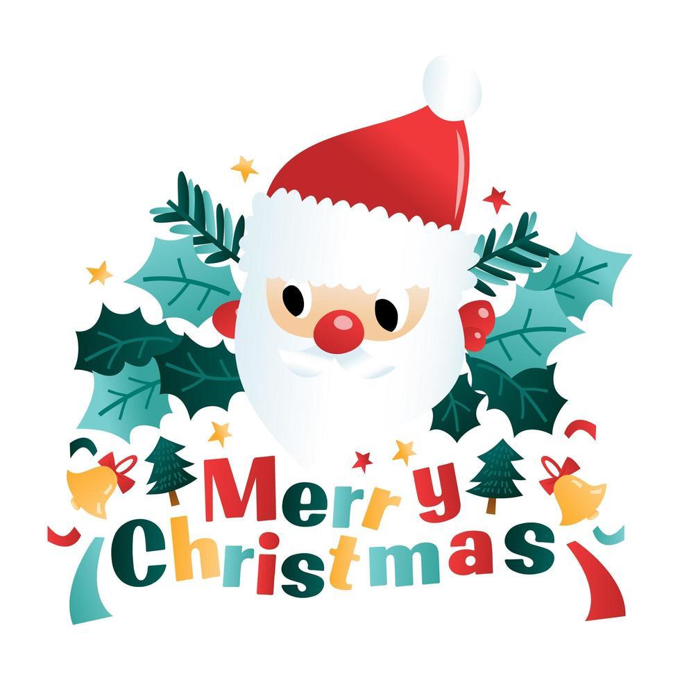 Spaß Cartoon Frohe Weihnachten Santa vektor