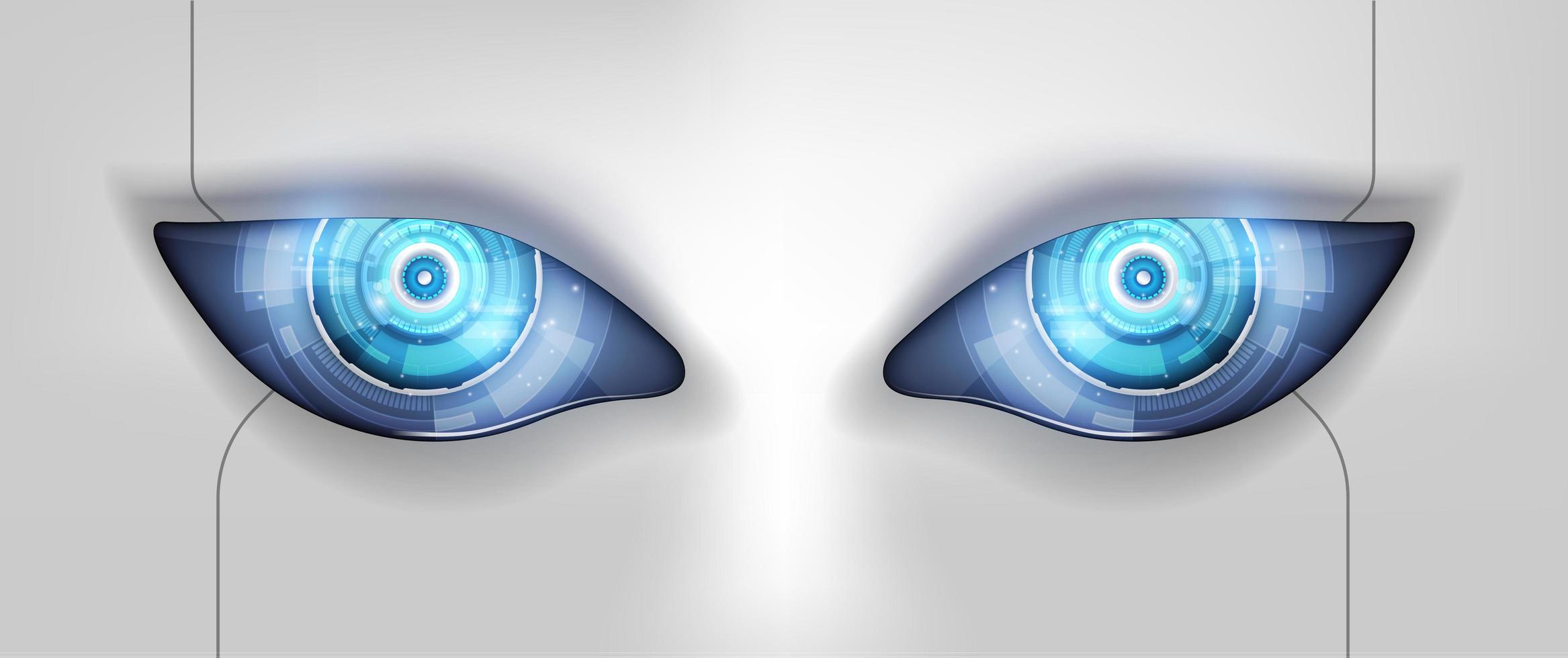 Auge des Roboters. futuristische Hud-Schnittstelle, Vektorillustration vektor