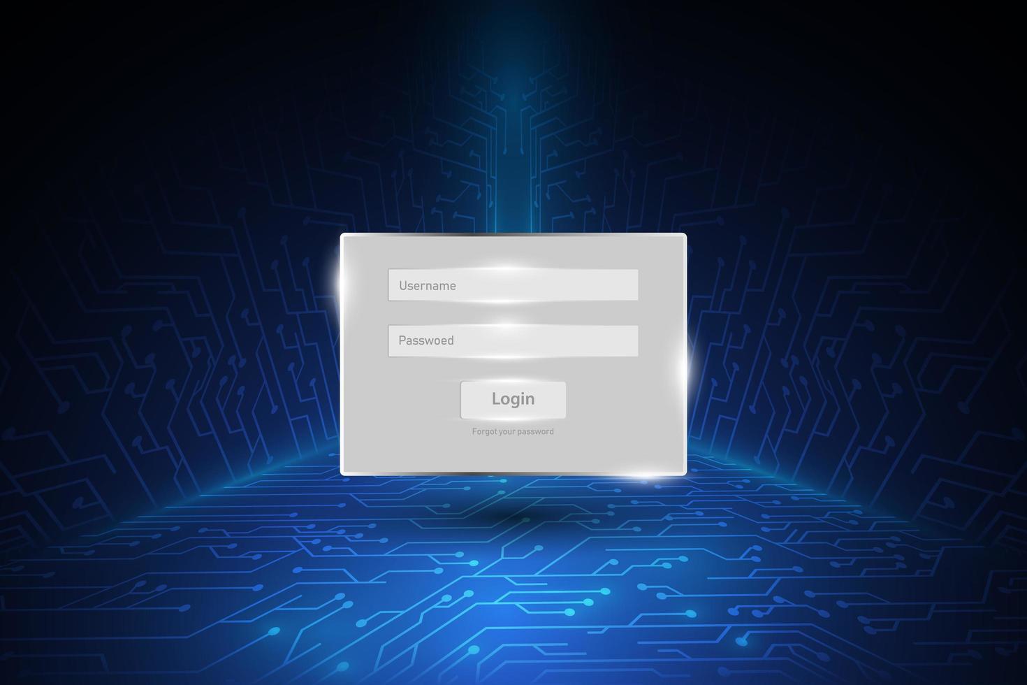 Passwort-Sicherheitsfenster vektor