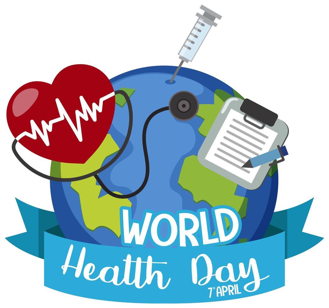 världens hälsodag logotyp vektor