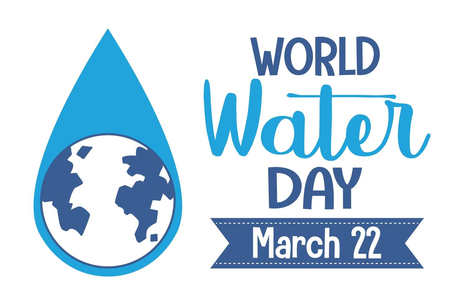 Weltwassertag Ikone vektor
