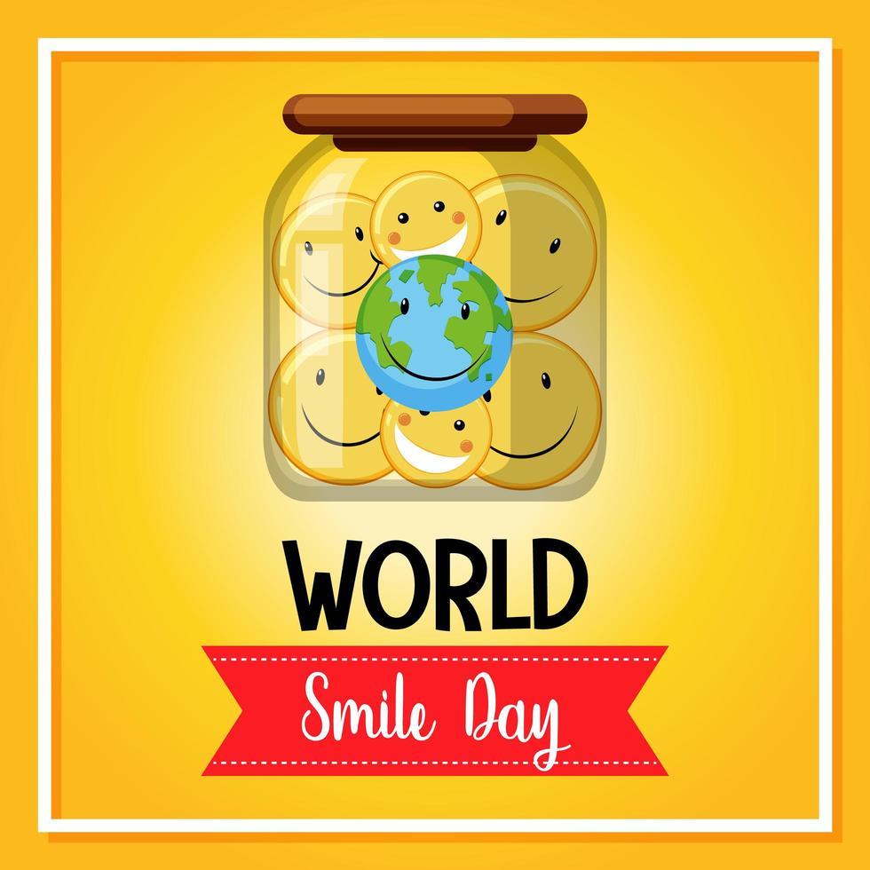 Weltlächeln Tagesbanner vektor
