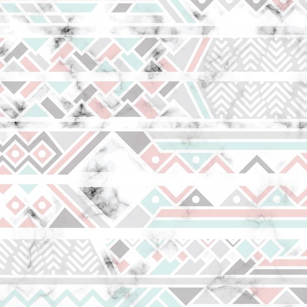 Marmor Textur Design mit weißen geometrischen Linien vektor