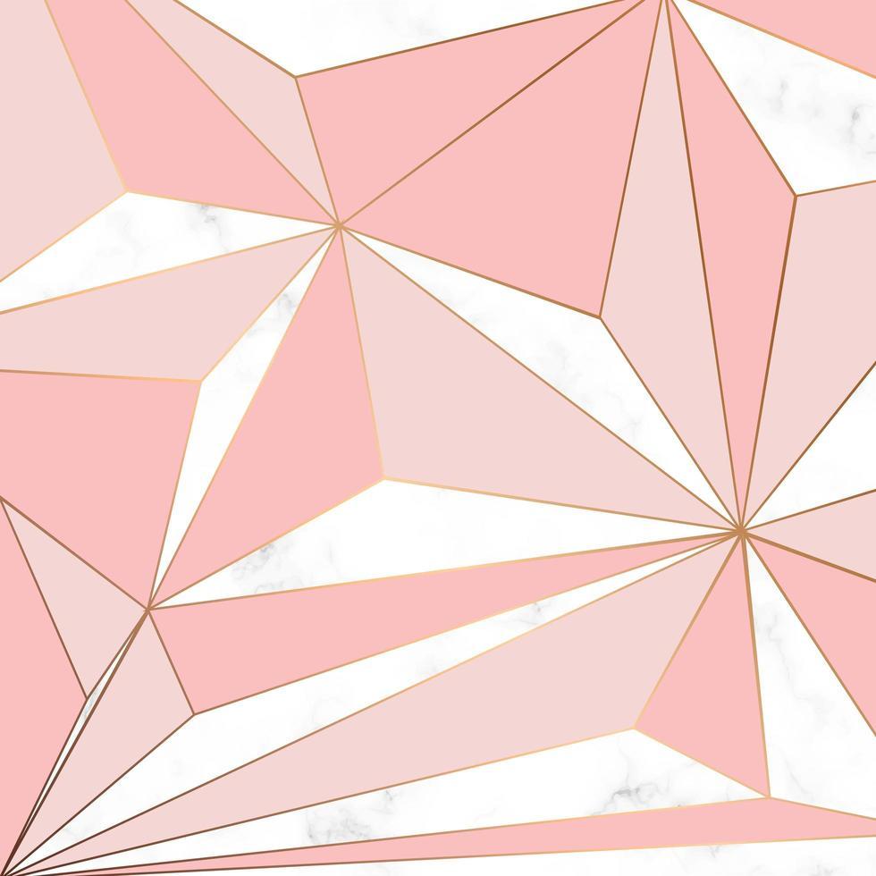 vektor marmor textur design med gyllene geometriska linjer