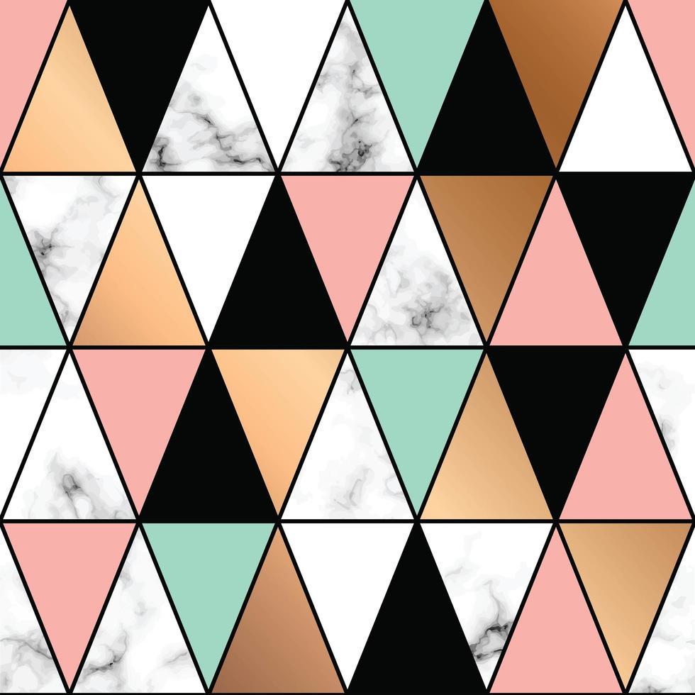 marmor textur design med geometriska former vektor