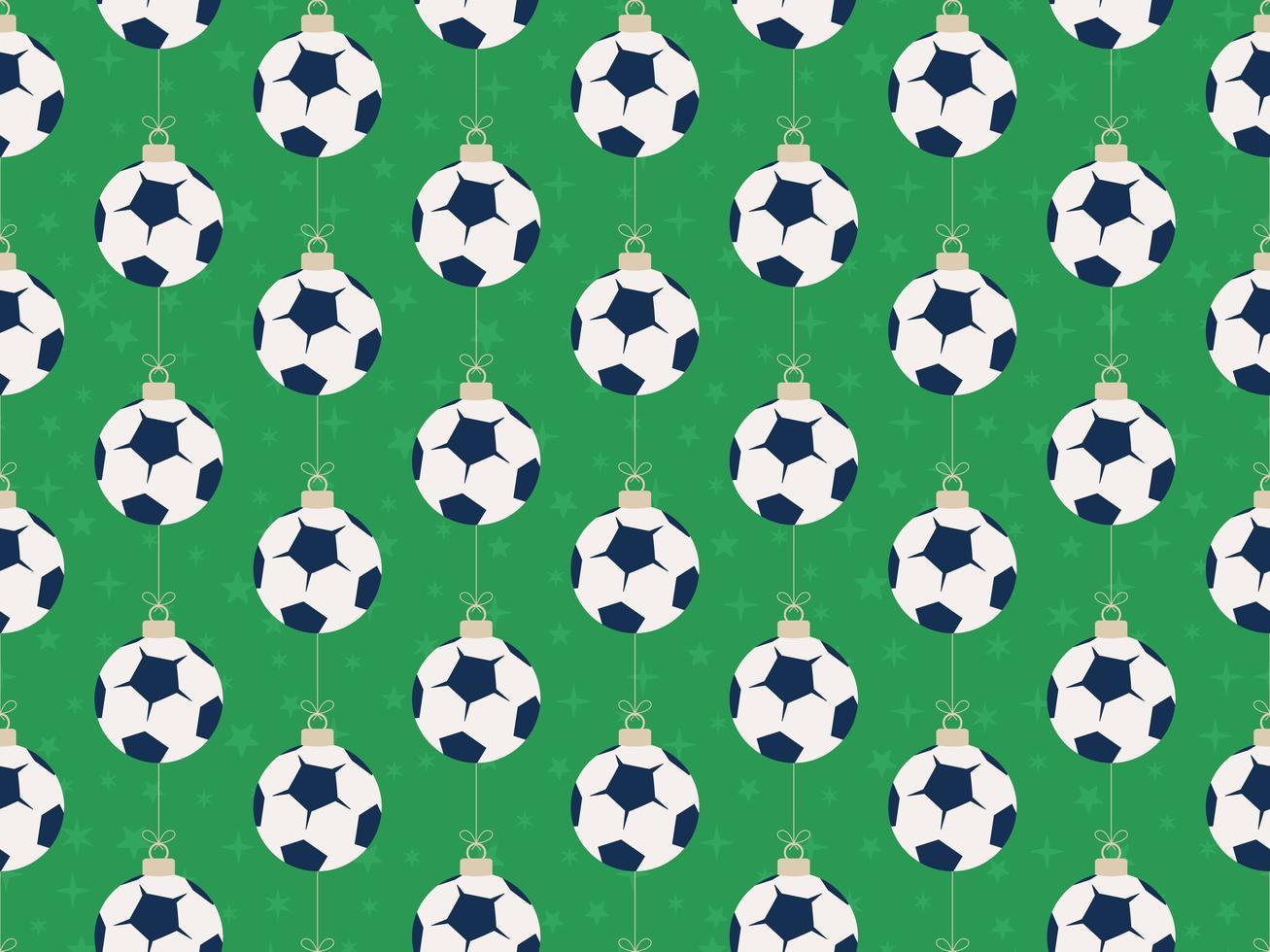 god jul fotboll eller fotboll sömlösa horisontella mönster vektor