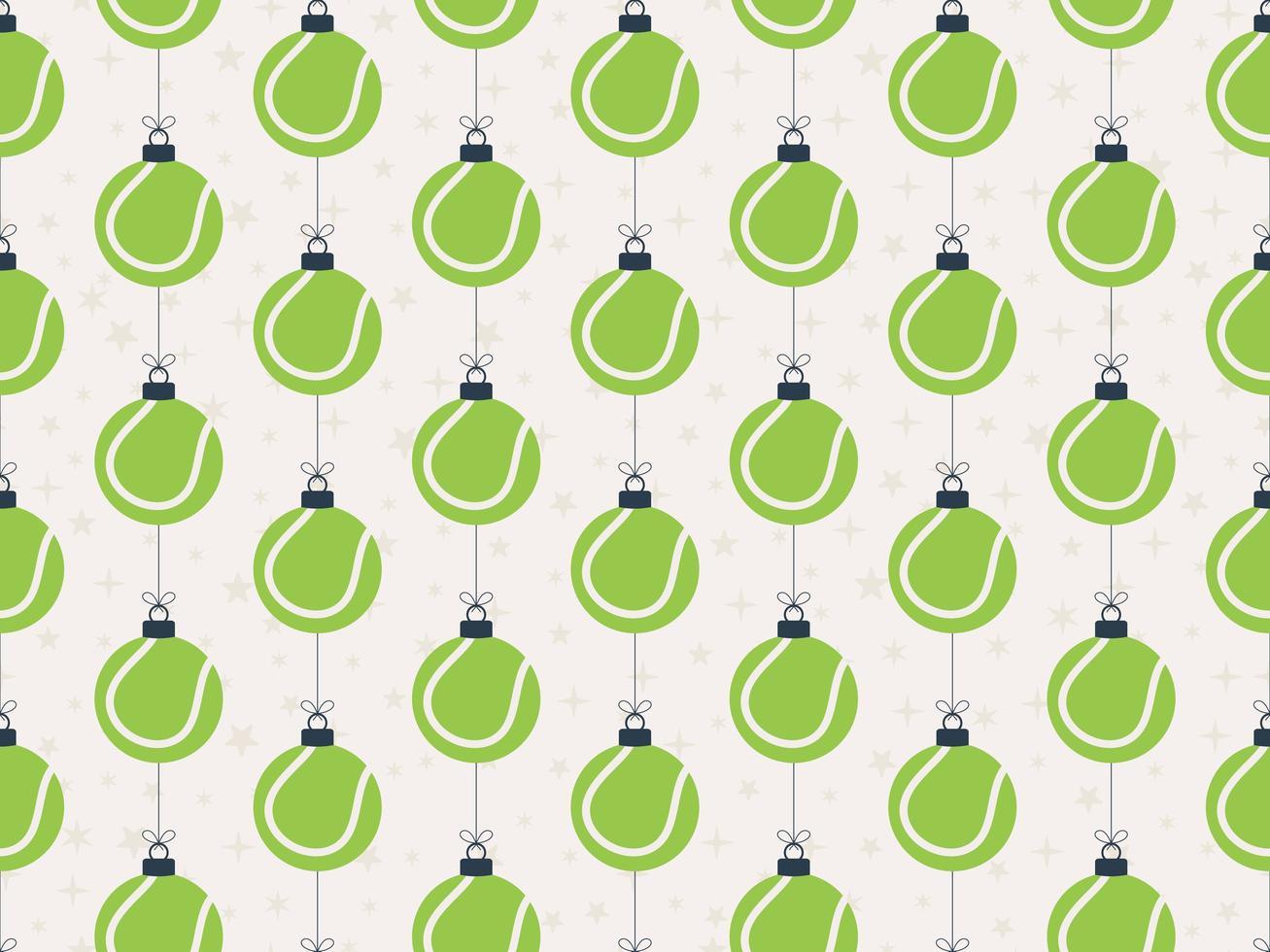 Frohe Weihnachten Tennis nahtlose horizontale Muster vektor