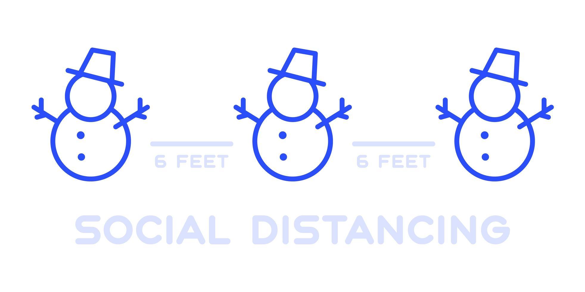 social distansering vid jul evenemang affisch vektor