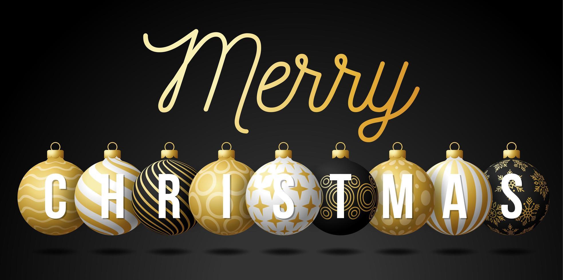 Luxus Frohe Weihnachten Ball Ornament Banner vektor