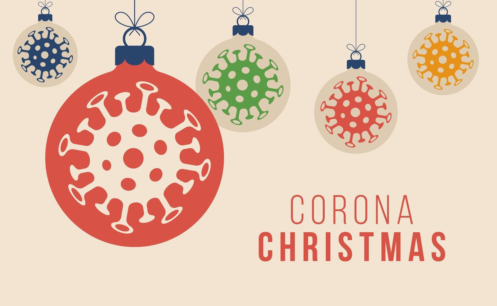 coronavirus boll prydnad jul koncept vektor
