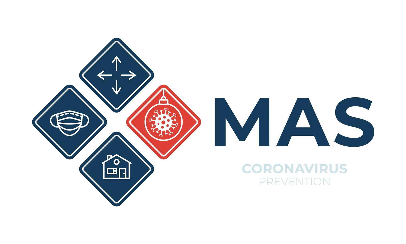 Weihnachts-Coronavirus-Verkehrszeichenplakat vektor