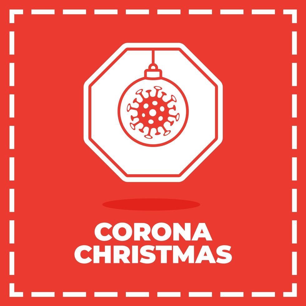jul coronavirus vägskylt vektor