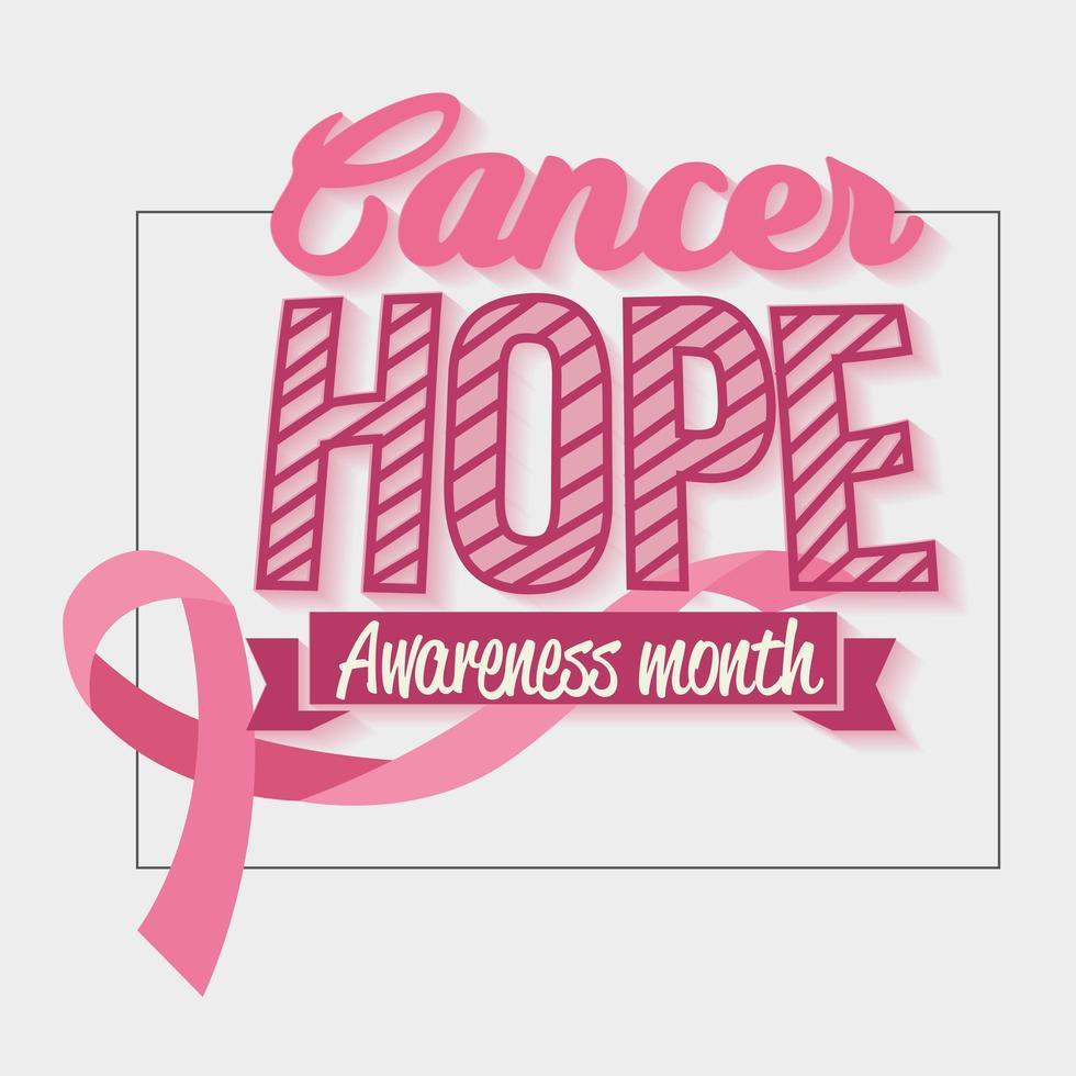 bröstcancermedvetenhetsaffisch med rosa band vektor