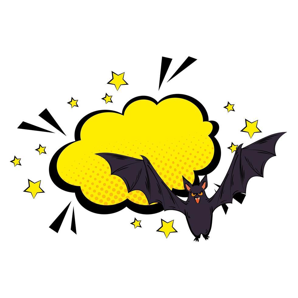 popkonst halloween flygande fladdermus vektor