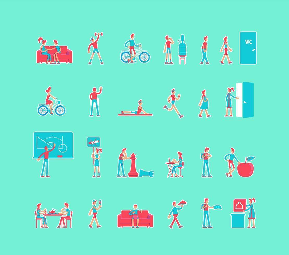 hälsosam livsstil set vektor