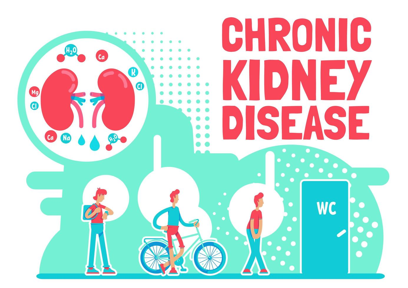 affisch med kronisk njursjukdom vektor