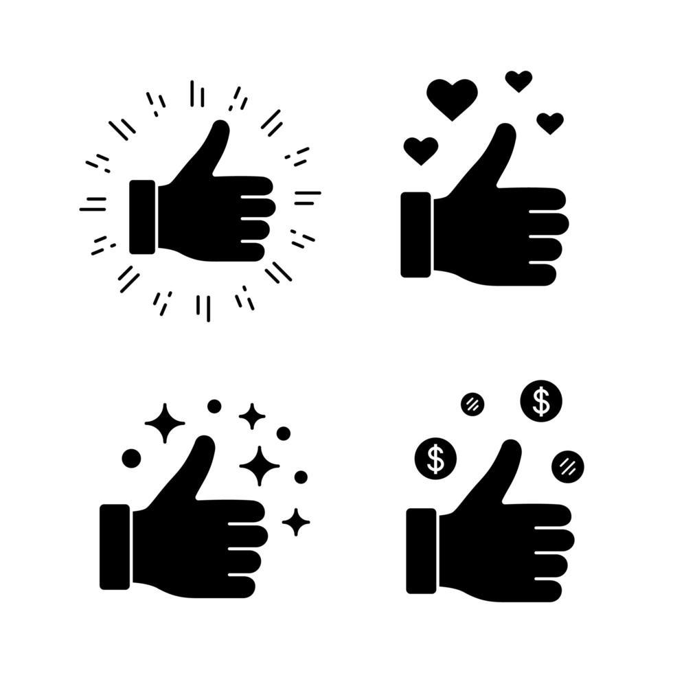 wie Glyphen Symbole gesetzt vektor