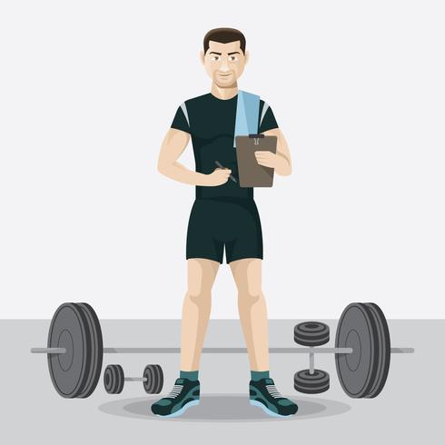 Fitnesstrainer vektor