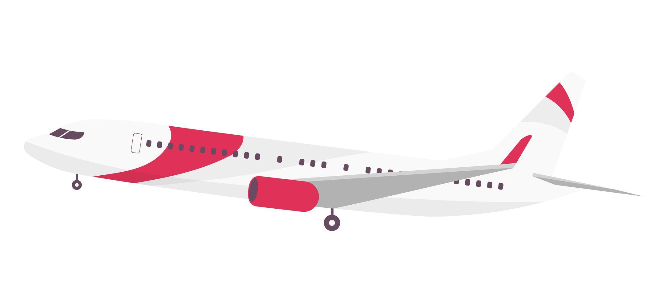 moderne Passagierflugzeuge vektor