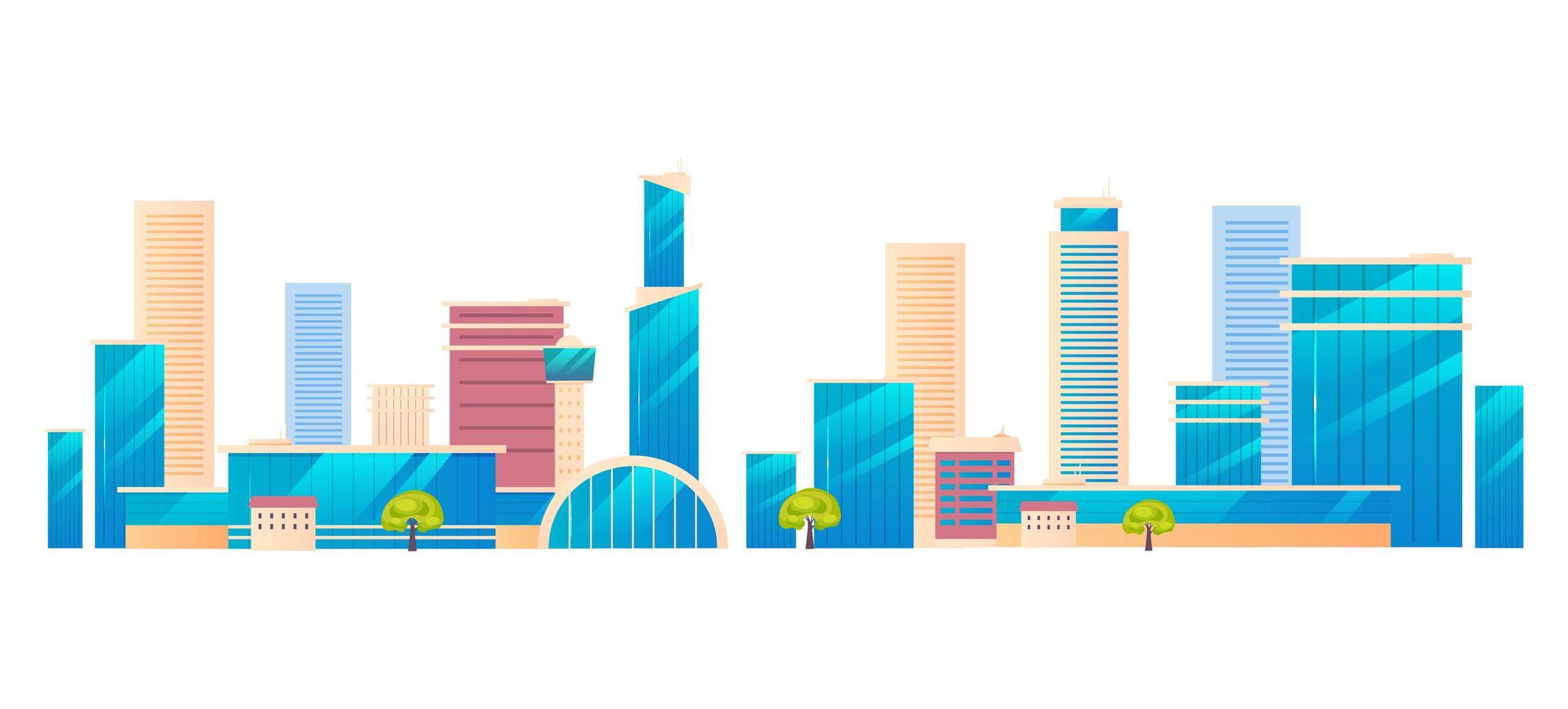 moderne Metropole Stadt vektor