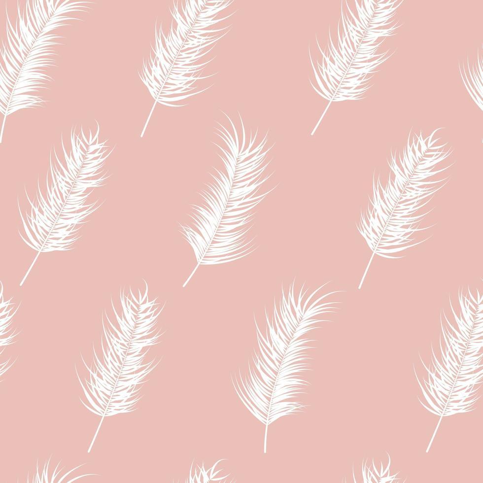 sömlösa mönster med tropiska löv på rosa bakgrund vektor