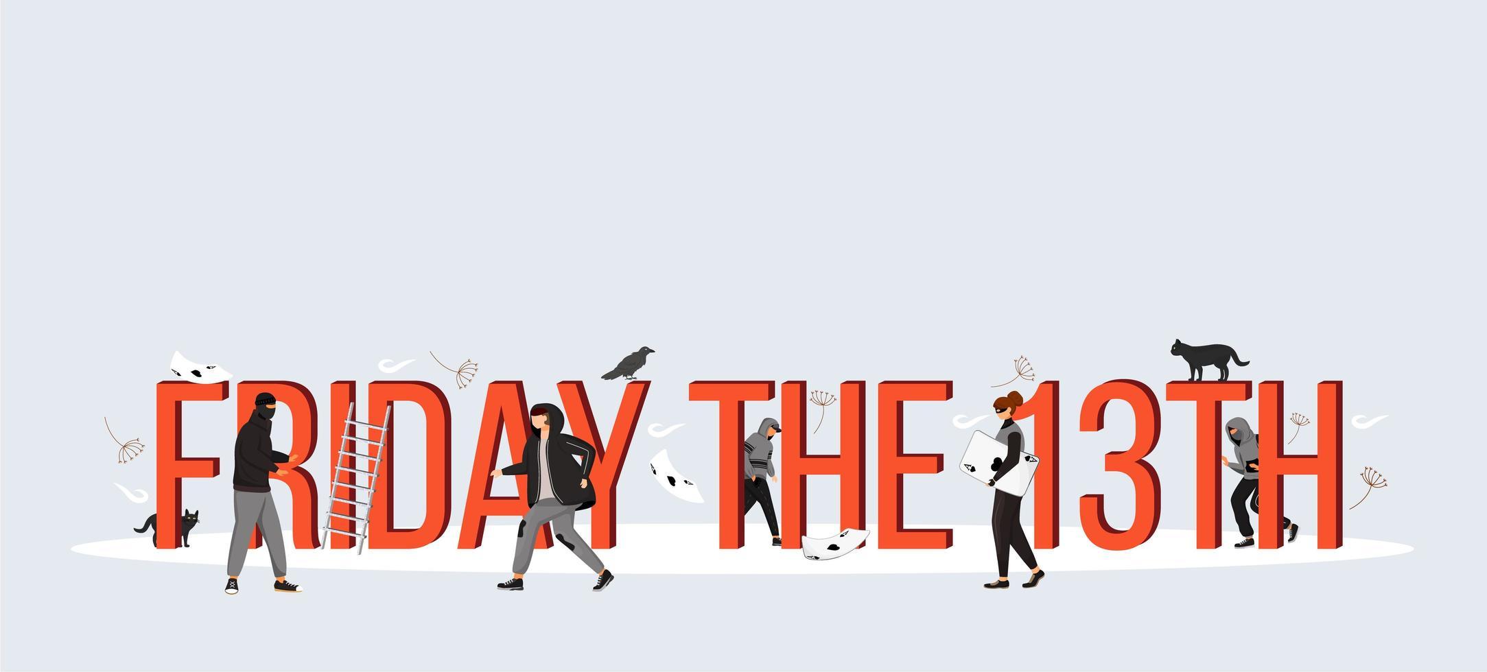 fredag den 13: e bannern vektor