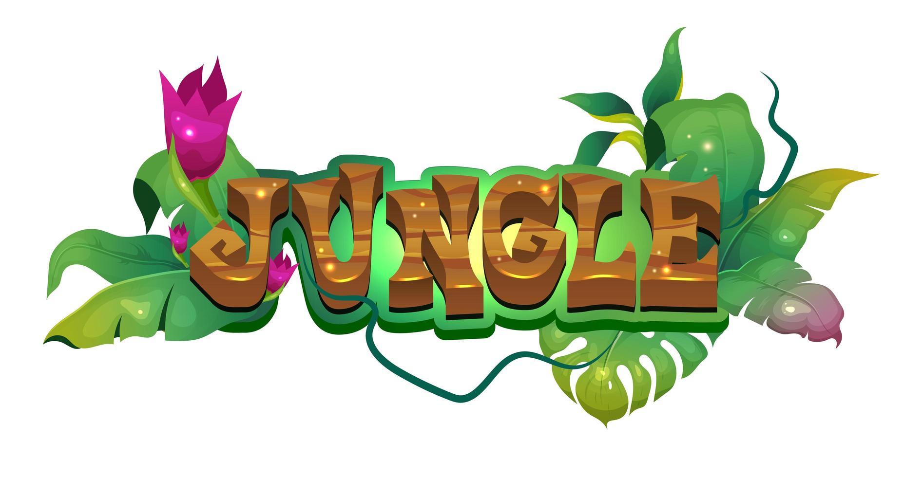 tropisk regnskog banner vektor