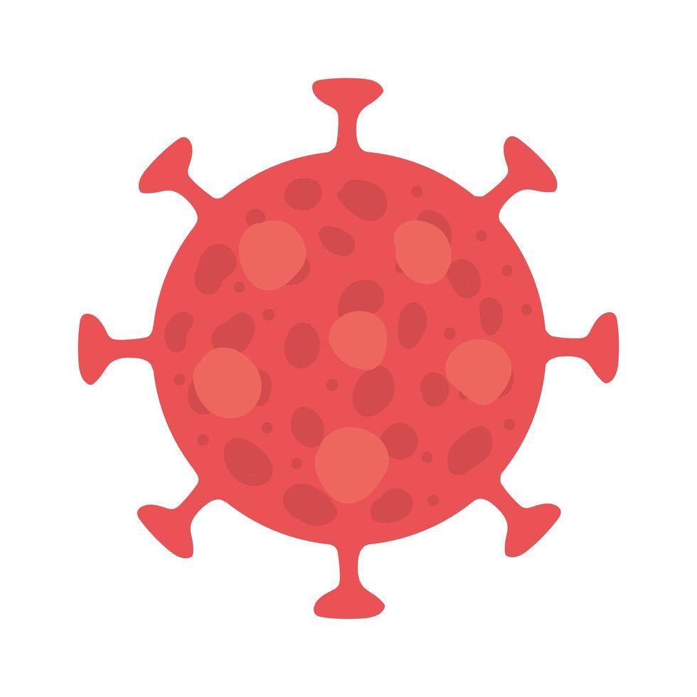 isolerad covid 19 virusvektordesign vektor