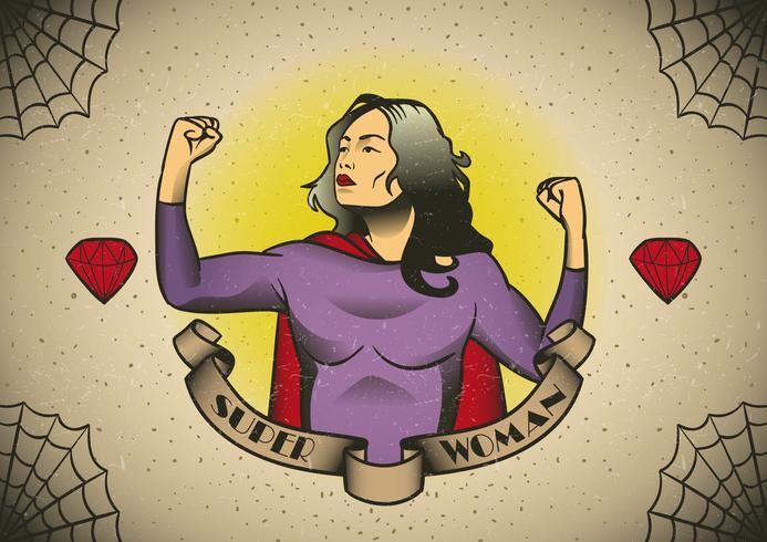 Superfrau Inspiration vektor