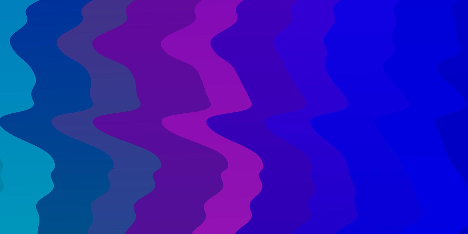 ljusblå, rosa layout med kurvor. vektor