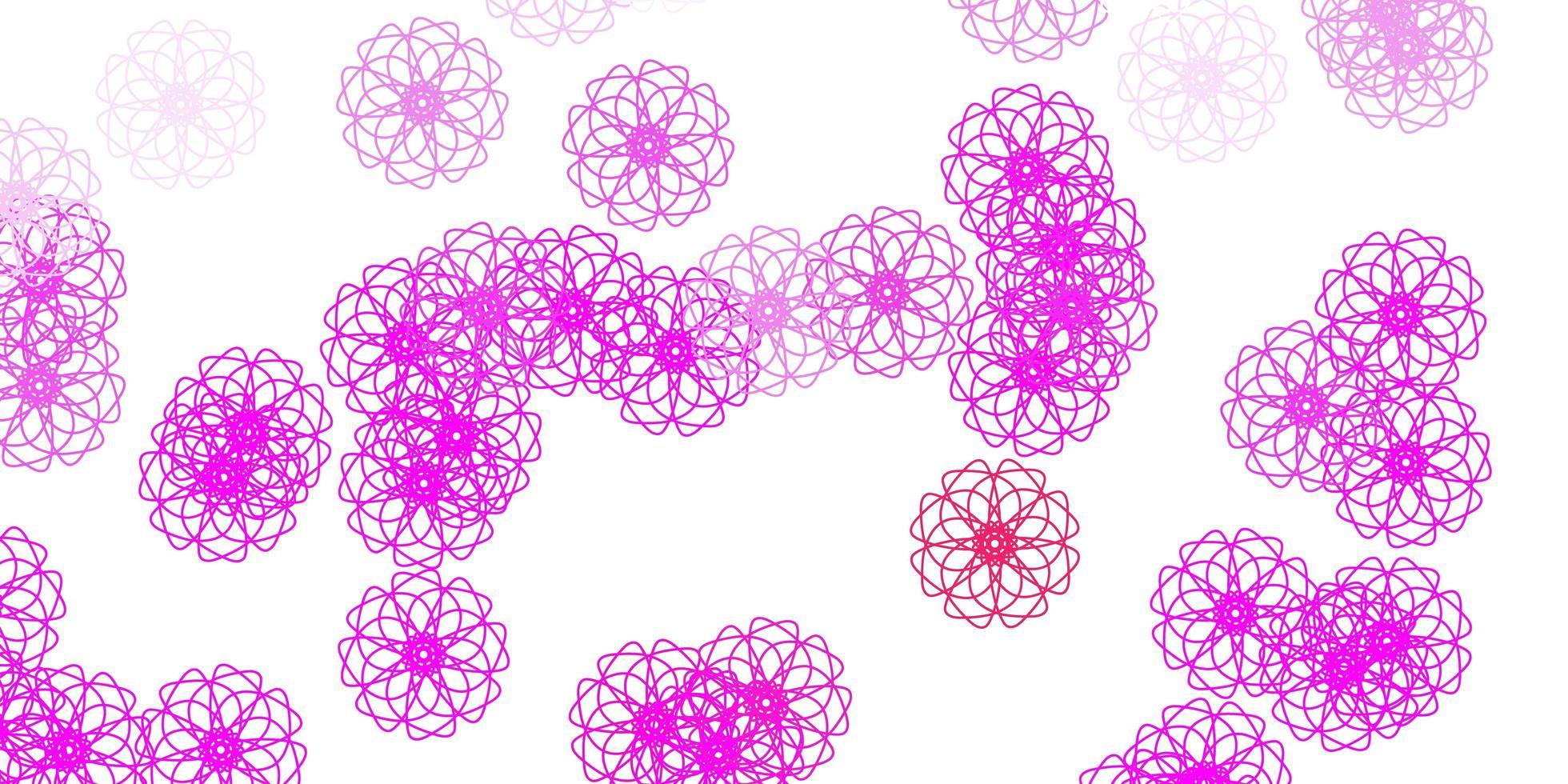ljuslila, rosa naturlig layout med blommor. vektor