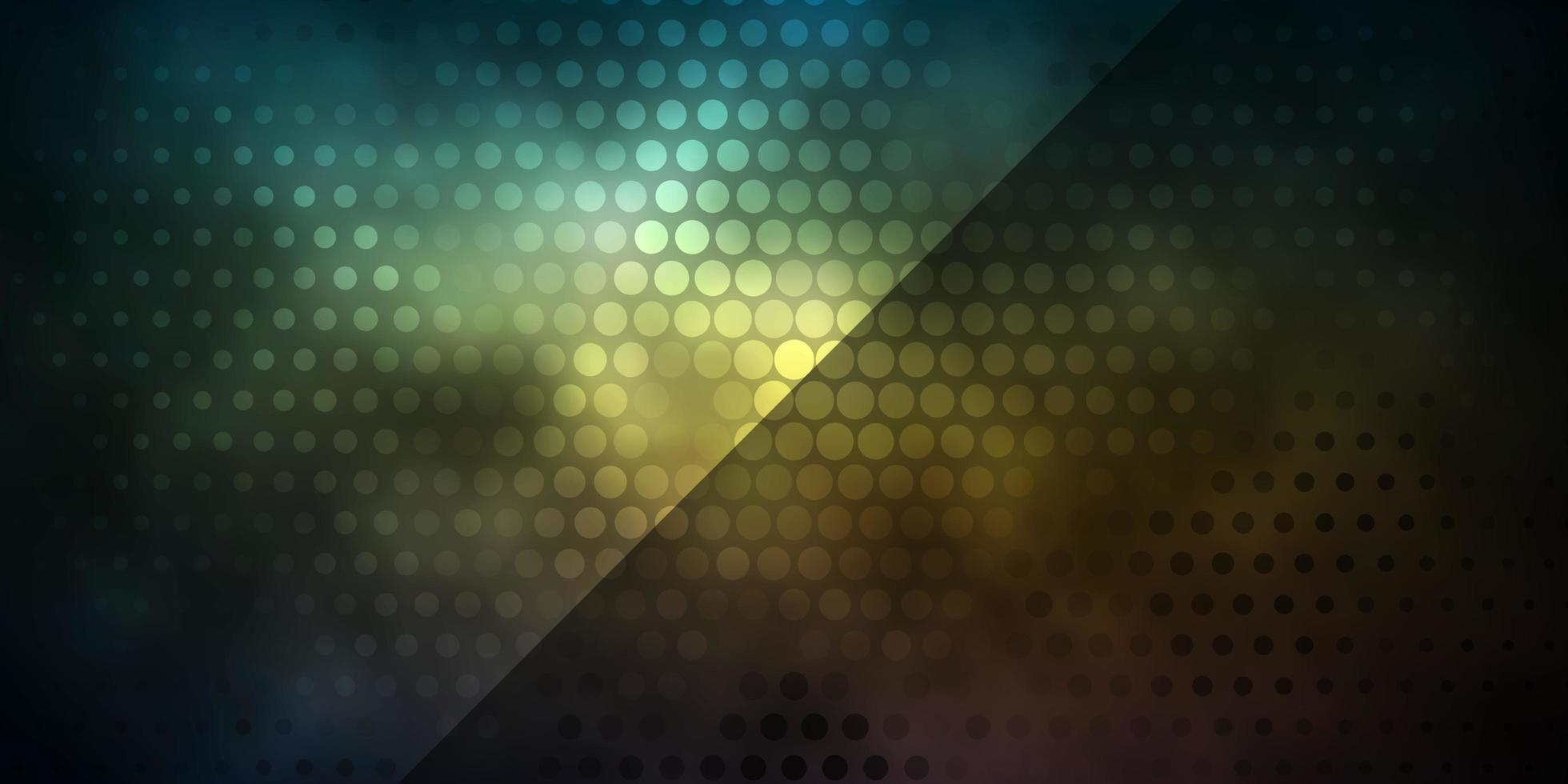 mörk gul bakgrund med cirklar. vektor