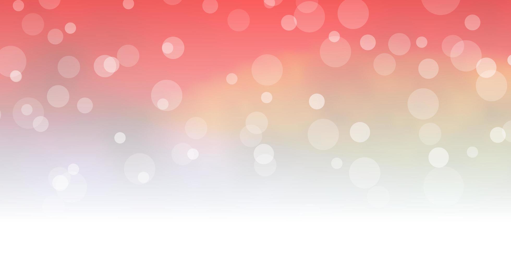 dunkelroter, gelber Vektorhintergrund mit Kreisen. vektor