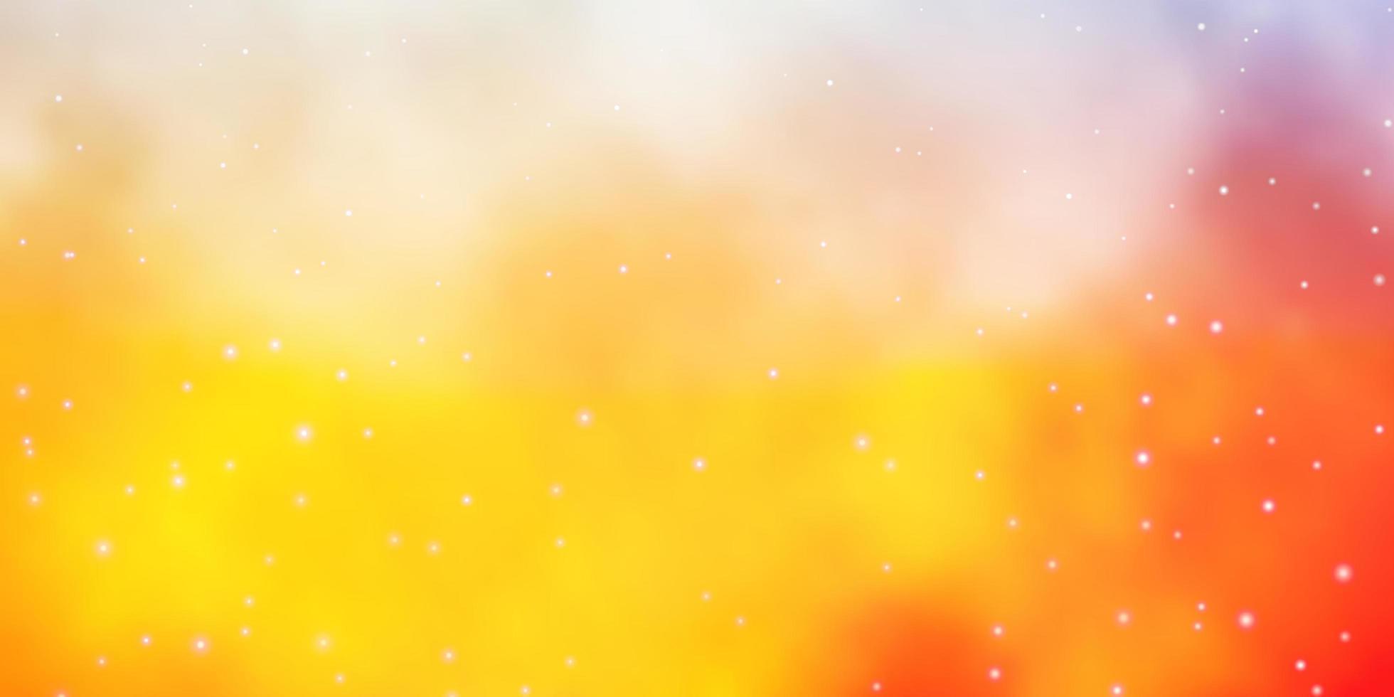 gelbes Layout mit hellen Sternen. vektor