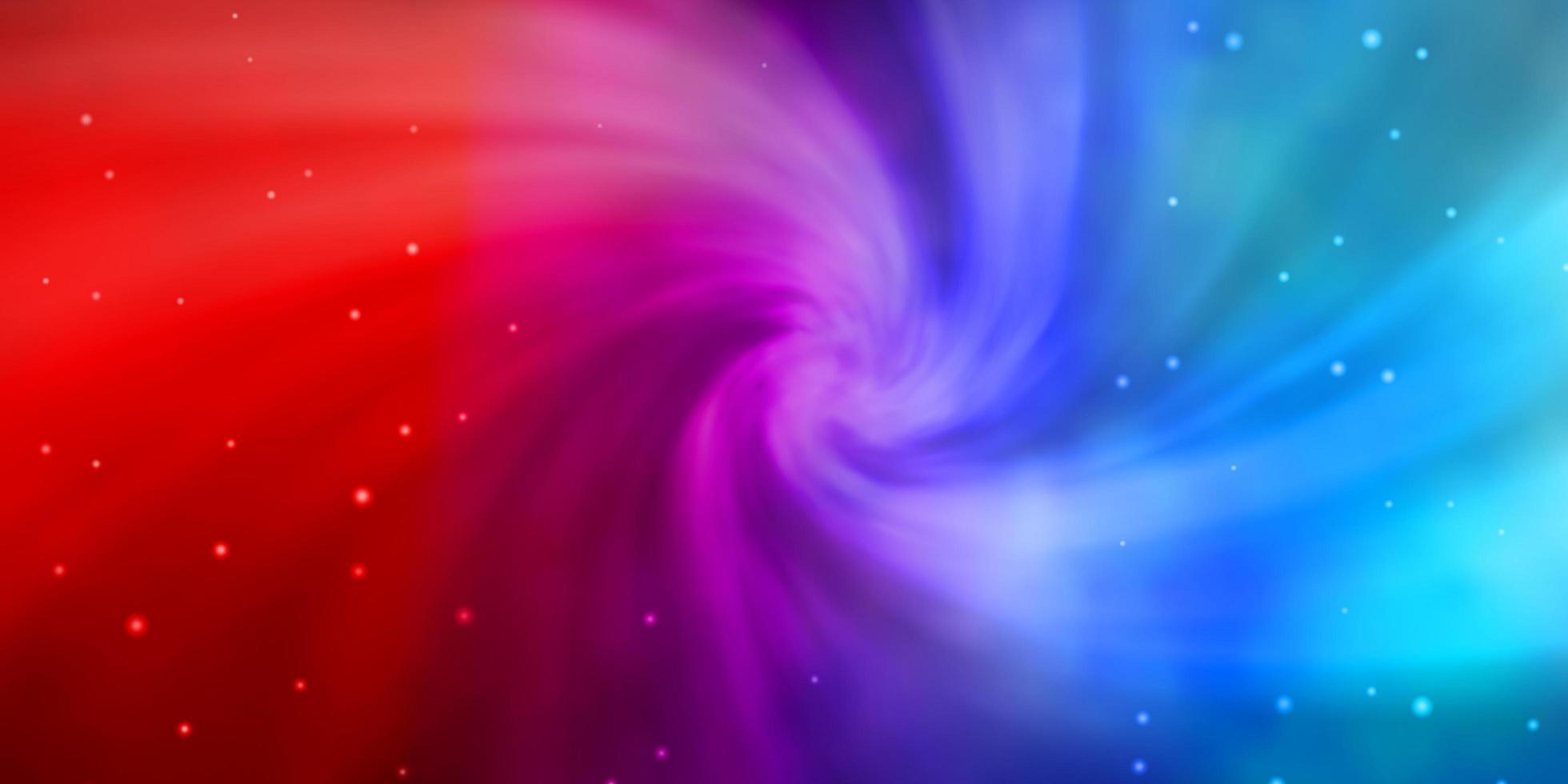 ljusblå, röd layout med ljusa stjärnor. vektor