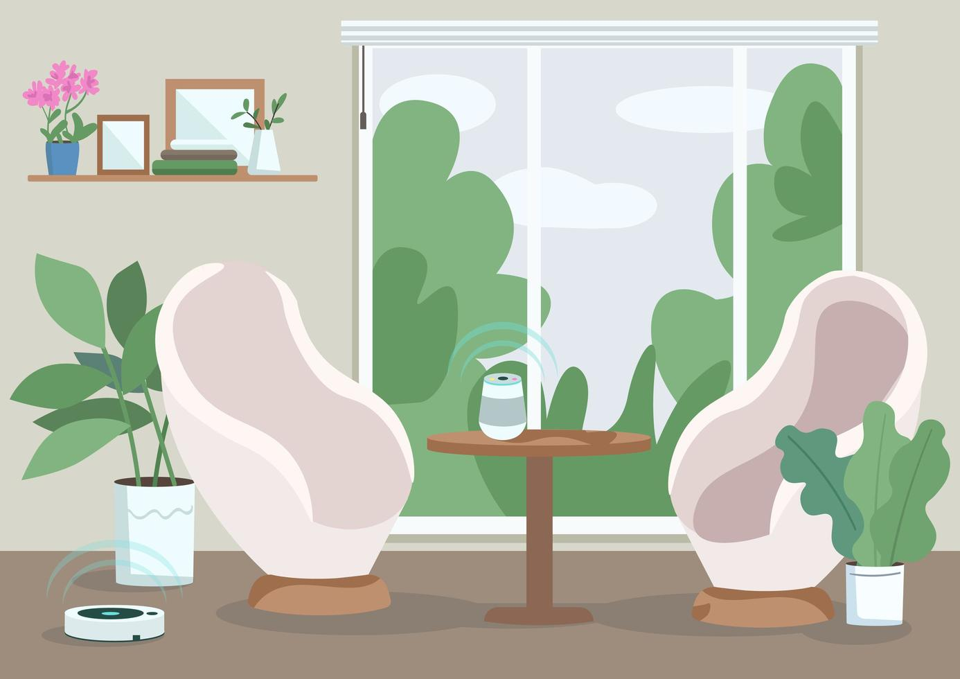 modernt hem vardagsrum vektor