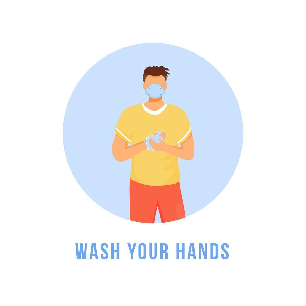 tvätta dina händer vektor